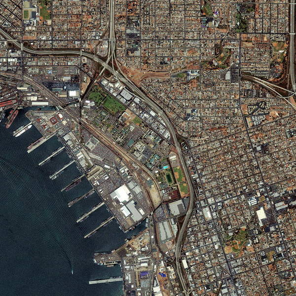 Wall Art - Photograph - Port Of San Diego by Geoeye/science Photo Library