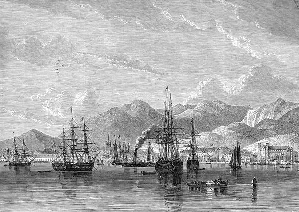 Trinidad Drawing - Port Of Spain, Trinidad, West Indies by Mary Evans Picture Library