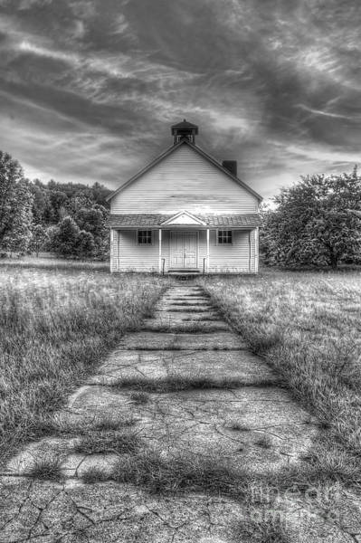 Schoolhouse Photograph - Port Oneida Schoolhouse In Black And White by Twenty Two North Photography