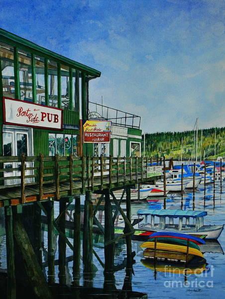 Wall Art - Painting - Port Side Pub by Stephen Abbott