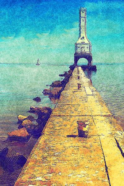 Wi Wall Art - Painting - Port Washington Brakewall by Jack Zulli
