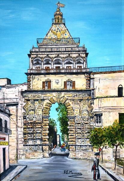 Gateway Arch Painting - Porta Nuova - Palermo by Loredana Messina
