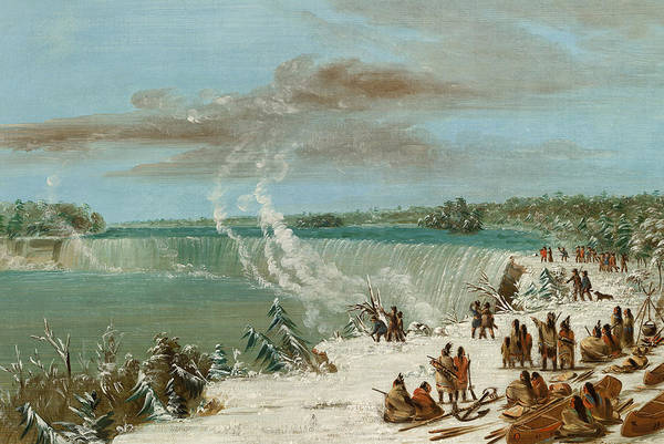 Territory Painting - Portage Around The Falls Of Niagara At Table Rock by George Catlin