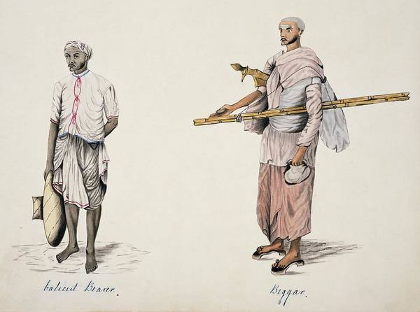 Kerala Photograph - Porter And Beggar by Natural History Museum, London/science Photo Library