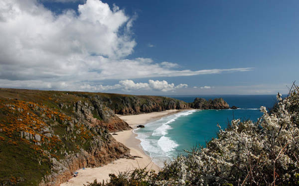 Ives Photograph - Porthcurno Beach Cornwall by Ollie Taylor