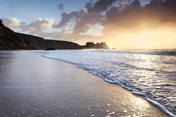 Wall Art - Photograph - Porthcurno Beach Sunrise by Chris Frost