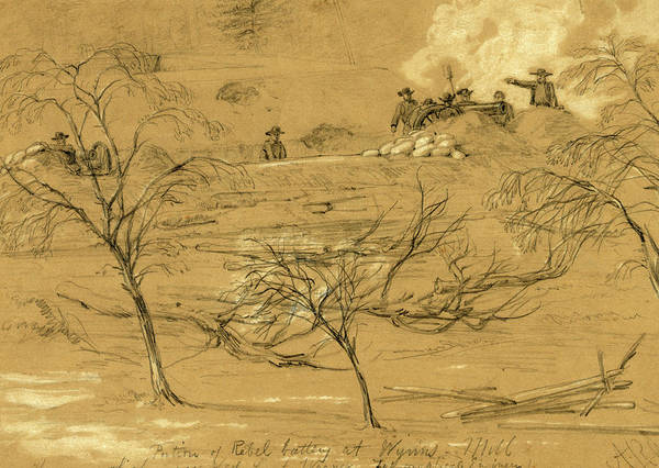Wall Art - Drawing - Portion Of Rebel Battery At Wynns Mill. The Gun Which by Quint Lox
