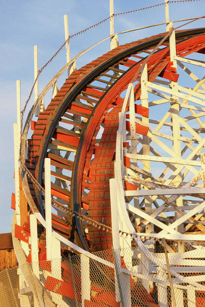 County Fair Wall Art - Photograph - Portion Of Rollercoaster by Panoramic Images