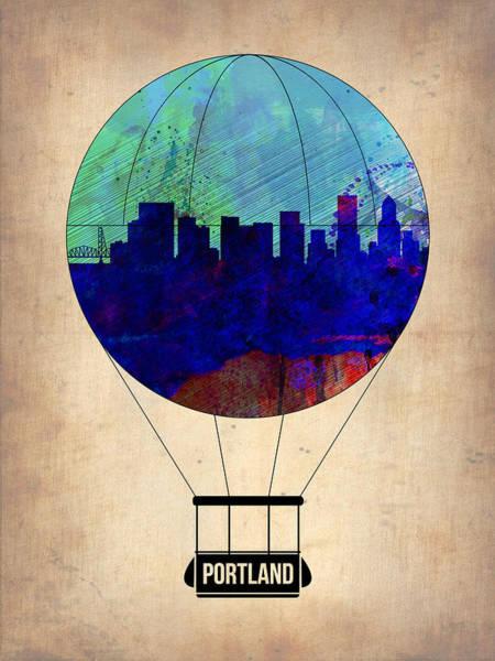 Tourist Painting - Portland Air Balloon by Naxart Studio