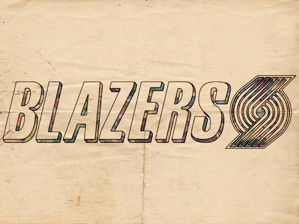 Painting - Portland Blazers Logo Poster by Florian Rodarte