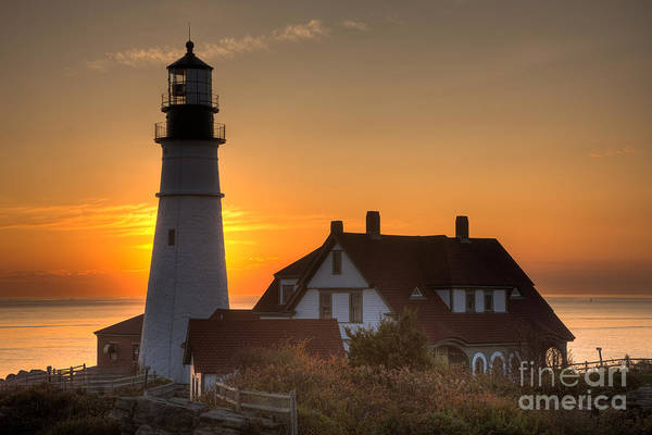 Photograph - Portland Head Light At Sunrise IIi by Clarence Holmes