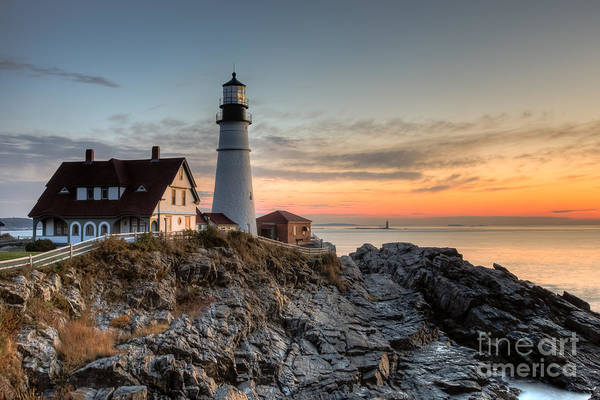 Photograph - Portland Head Light At Sunrise Iv by Clarence Holmes
