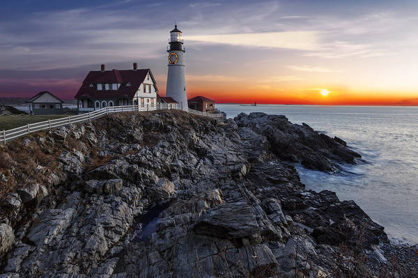 Photograph - Portland Head Light Awakes by Susan Candelario