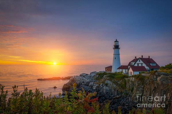 Wall Art - Photograph - Portland Head Light Sunrise  by Michael Ver Sprill