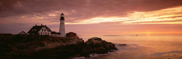 Sentry Wall Art - Photograph - Portland Head Lighthouse, Cape by Panoramic Images