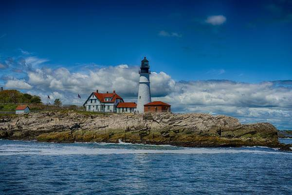 Foghorns Photograph - Portland Head Lighthouse by Douglas Perry
