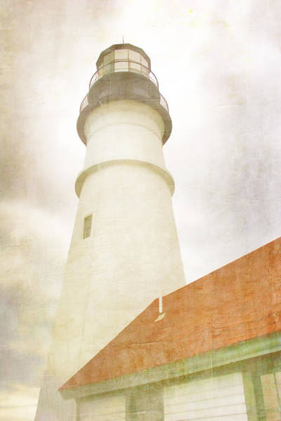Sentinel Photograph - Portland Head Lighthouse Maine by Carol Leigh