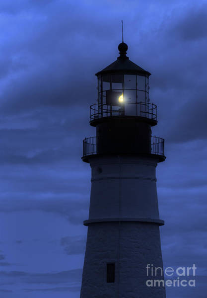 Wall Art - Photograph - Portland Head Lighthouse Silhouette by Diane Diederich