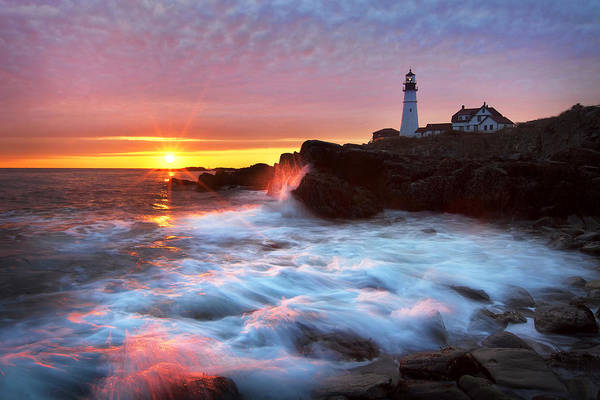 Wall Art - Photograph - Portland Head Sunrise by Eric Gendron
