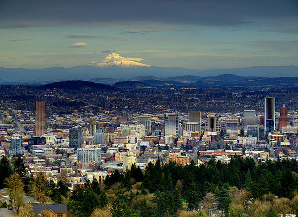 Photograph - Portland Oregon by HW Kateley