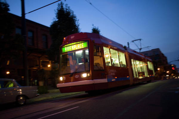 Wall Art - Photograph - Portland Streetcar by Jan Sonnenmair