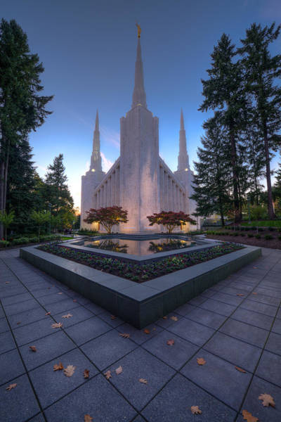 Art Print featuring the photograph Portland Temple by Dustin  LeFevre