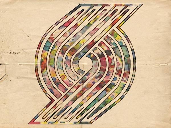 Painting - Portland Trailblazers Poster Art by Florian Rodarte