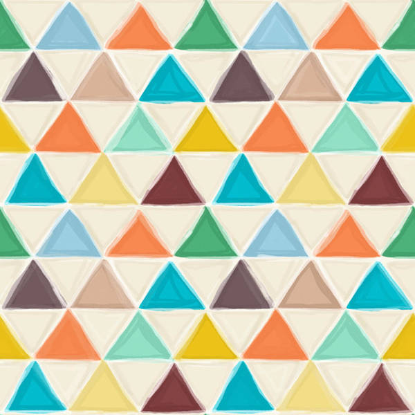 Crayon Drawing - Portland Triangles by MGL Meiklejohn Graphics Licensing