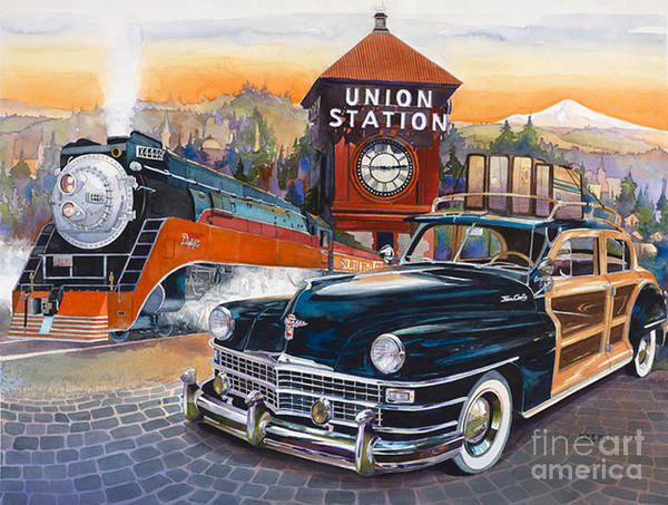 Portland's Union Station Art Print by Mike Hill