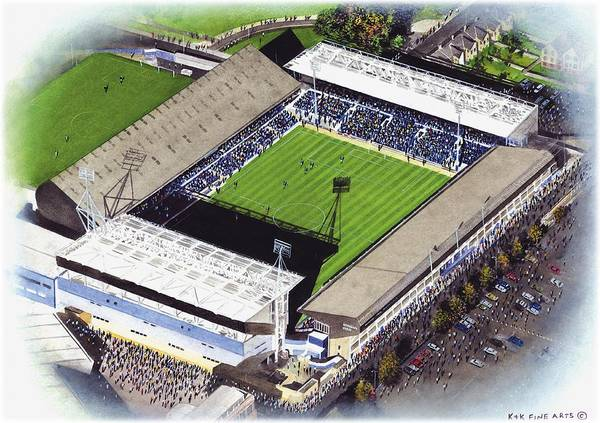 Wall Art - Painting - Portman Road - Ipswich Town by Kevin Fletcher