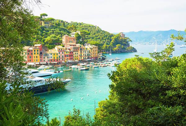 Luxury Yacht Photograph - Portofino, Italy by Michal Krakowiak