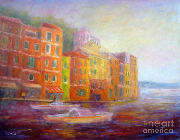Painting - Portofino Stroll by Carolyn Jarvis