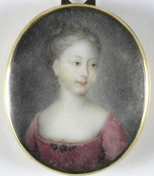 1715 Drawing - Portrait, A Girl, Probably A Daughter Of George II by Litz Collection