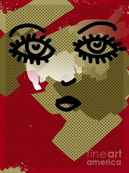 Contour Digital Art - Portrait by Irmak Akcadogan
