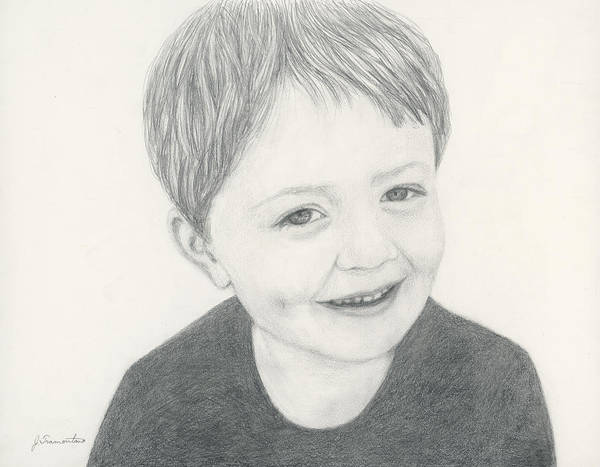 Painting - Pencil Portrait by Jeannette Tramontano