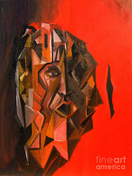Painting - Portrait Mask by James Lavott