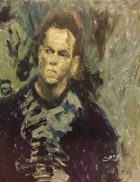 Upper Body Painting - Portrait Matt Damon Jason Bourne Movie by MendyZ