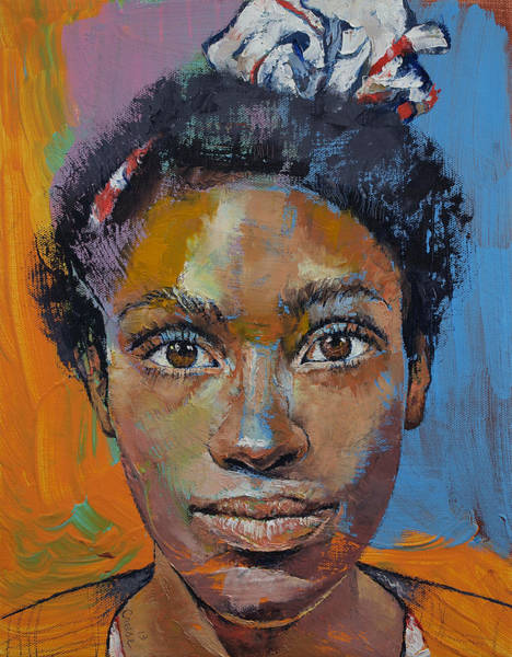 Frau Painting - Portrait Of Toni by Michael Creese
