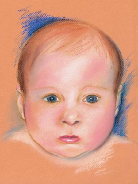 Pastel - Portrait Of A Baby by MM Anderson