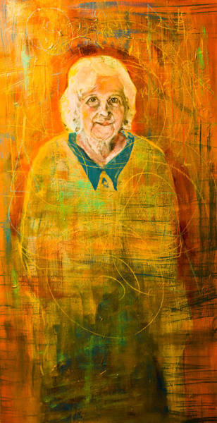 Painting - Portrait Of A Elderly Woman by Maxim Komissarchik