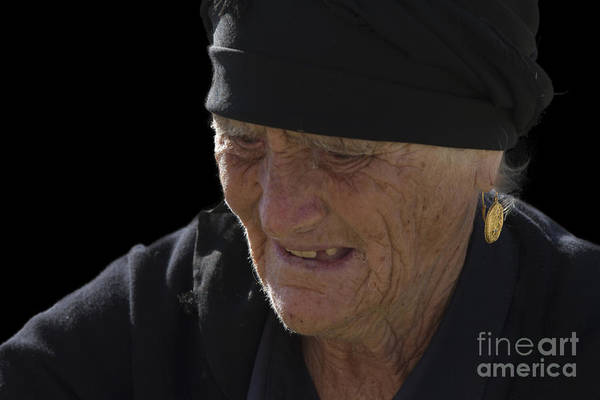 Photograph - Portrait Of A Fishermans Wife by Heiko Koehrer-Wagner