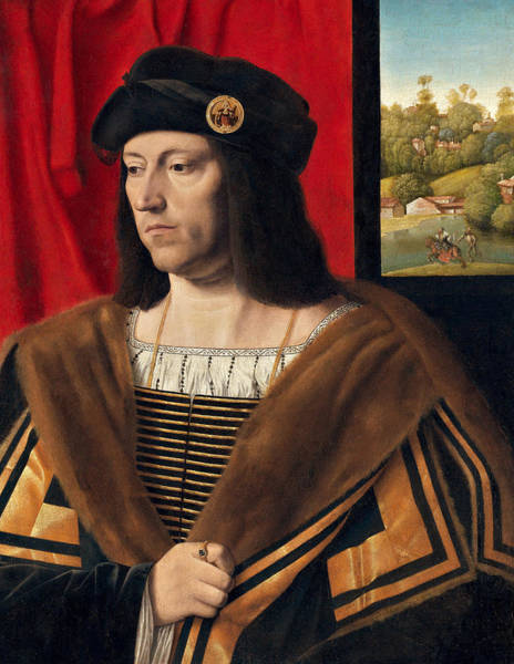 Ermine Wall Art - Painting - Portrait Of A Gentleman by Bartolomeo Veneto