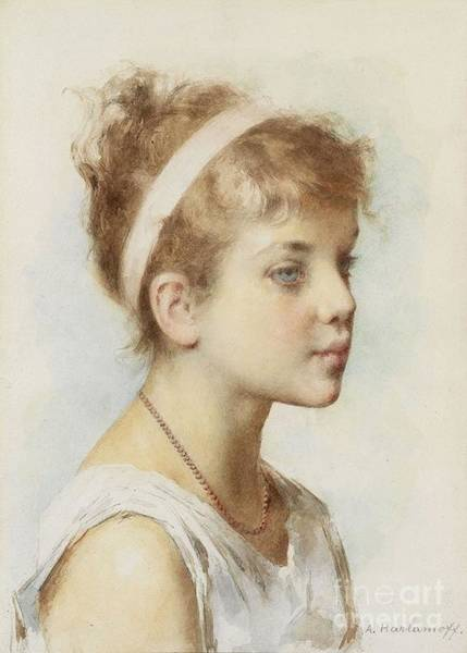 Painting - Portrait Of A Girl by Celestial Images