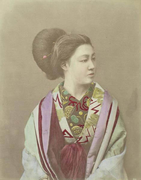 Wall Art - Drawing - Portrait Of A Japanese Woman, Attributed To Baron Raimund by Artokoloro