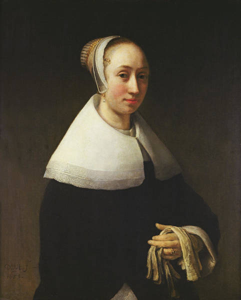 Ring Painting - Portrait Of A Lady, 1653 by Willem Drost