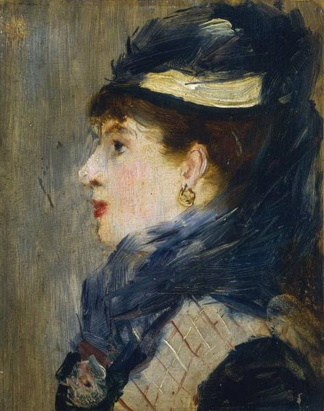 Wall Art - Painting - Portrait Of A Lady by Edouard Manet