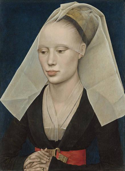 Northern Renaissance Wall Art - Painting - Portrait Of A Lady by Rogier van der Weyden