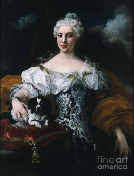 Painting - Portrait Of A Lady With A Dog by Celestial Images