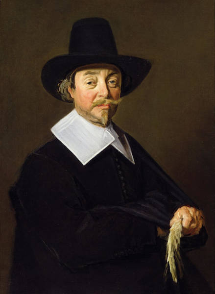 Moustaches Photograph - Portrait Of A Man, C.1643-45 by Frans Hals