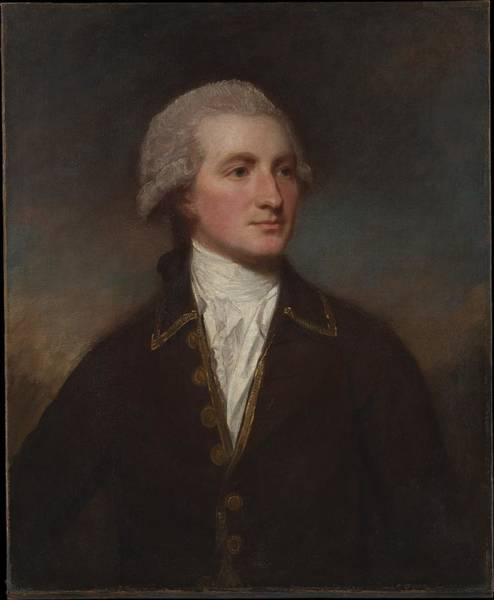 Romney Painting - Portrait Of A Man by George Romney